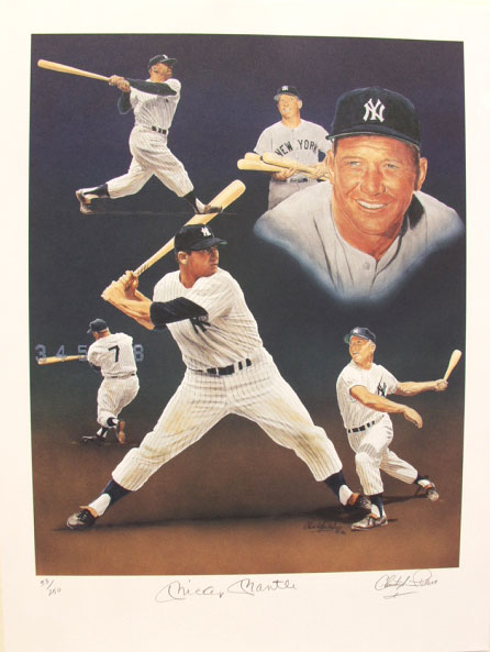 Image: Mickey Mantle Fine Limited Edition Lithograph