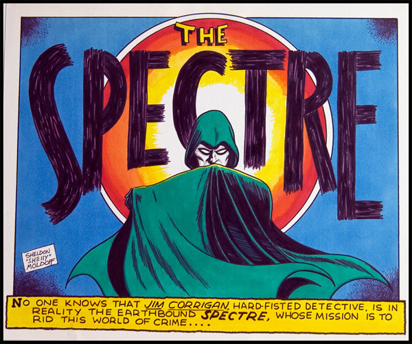 Image: More Fun Spectre Comics panel recreation by Sheldon Moldoff