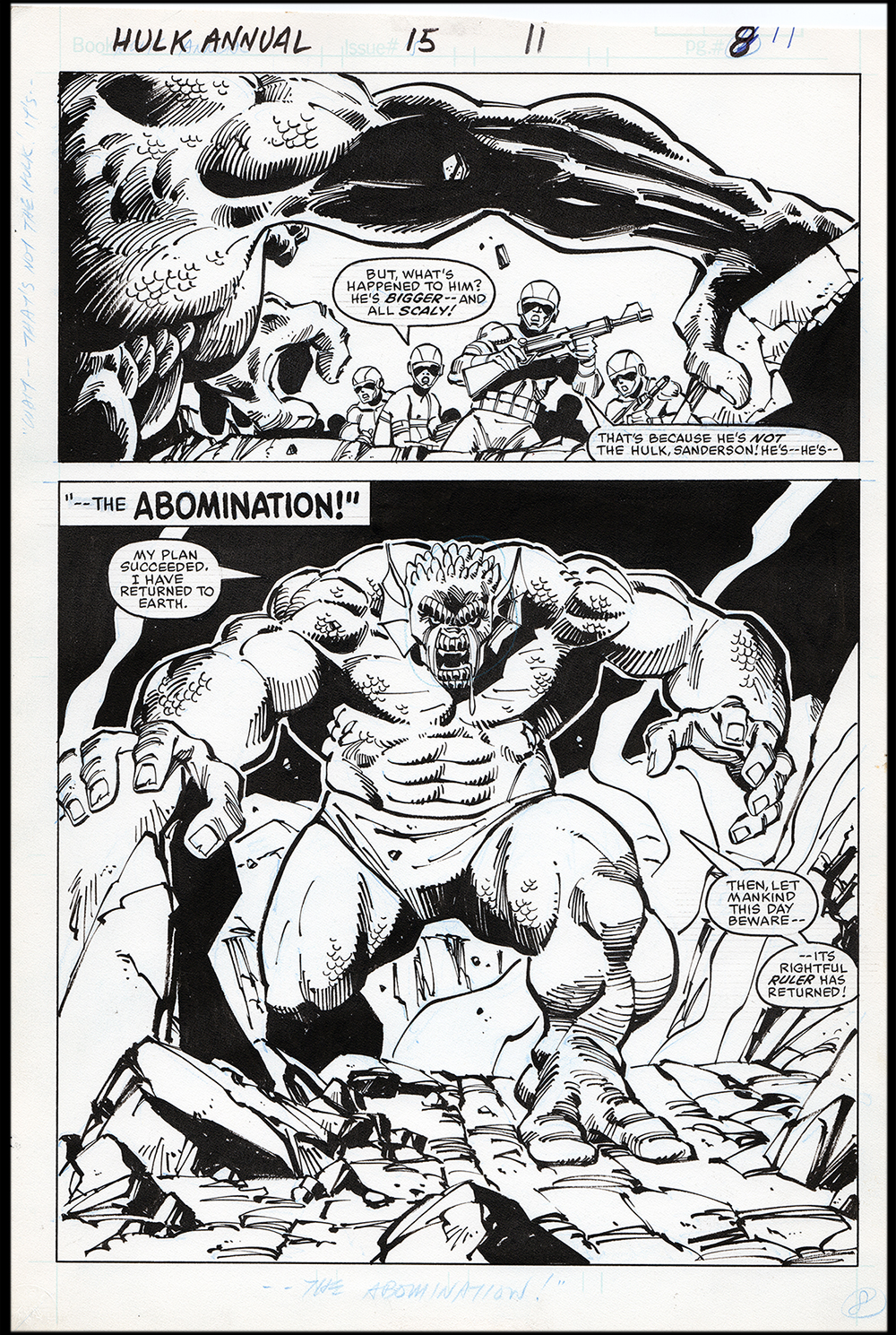 Image: Incredible Hulk Annual #15 Splash Art by Sal Buscema