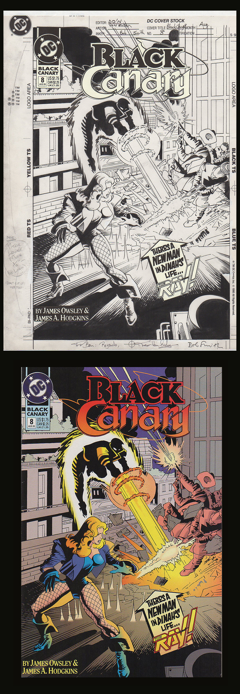 Image: Black Canary #8 Cover Art by Trevor Von Eeden
