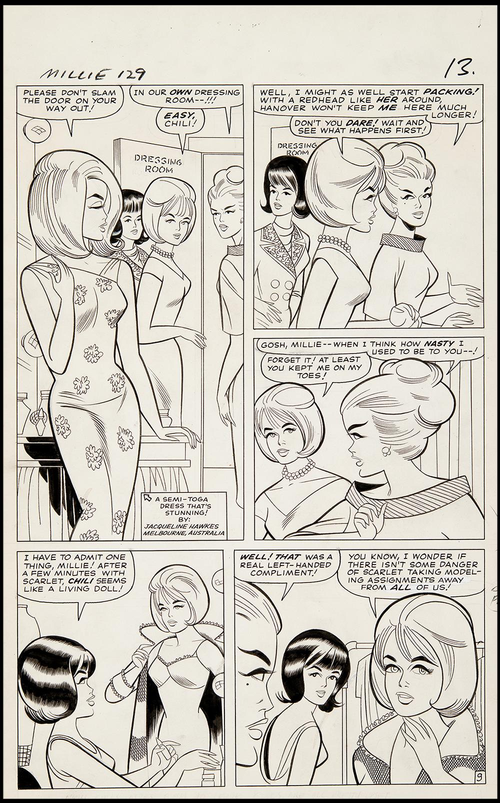 Image: Millie the Model #129 Art by Stan Goldberg