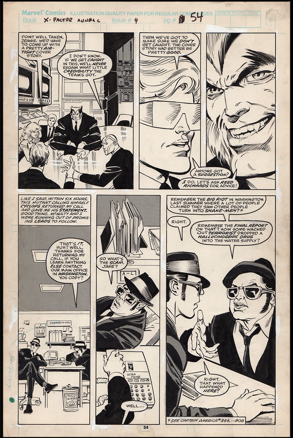 Image: X-Factor Annual #4 Art by Jim Fern Blues Brothers