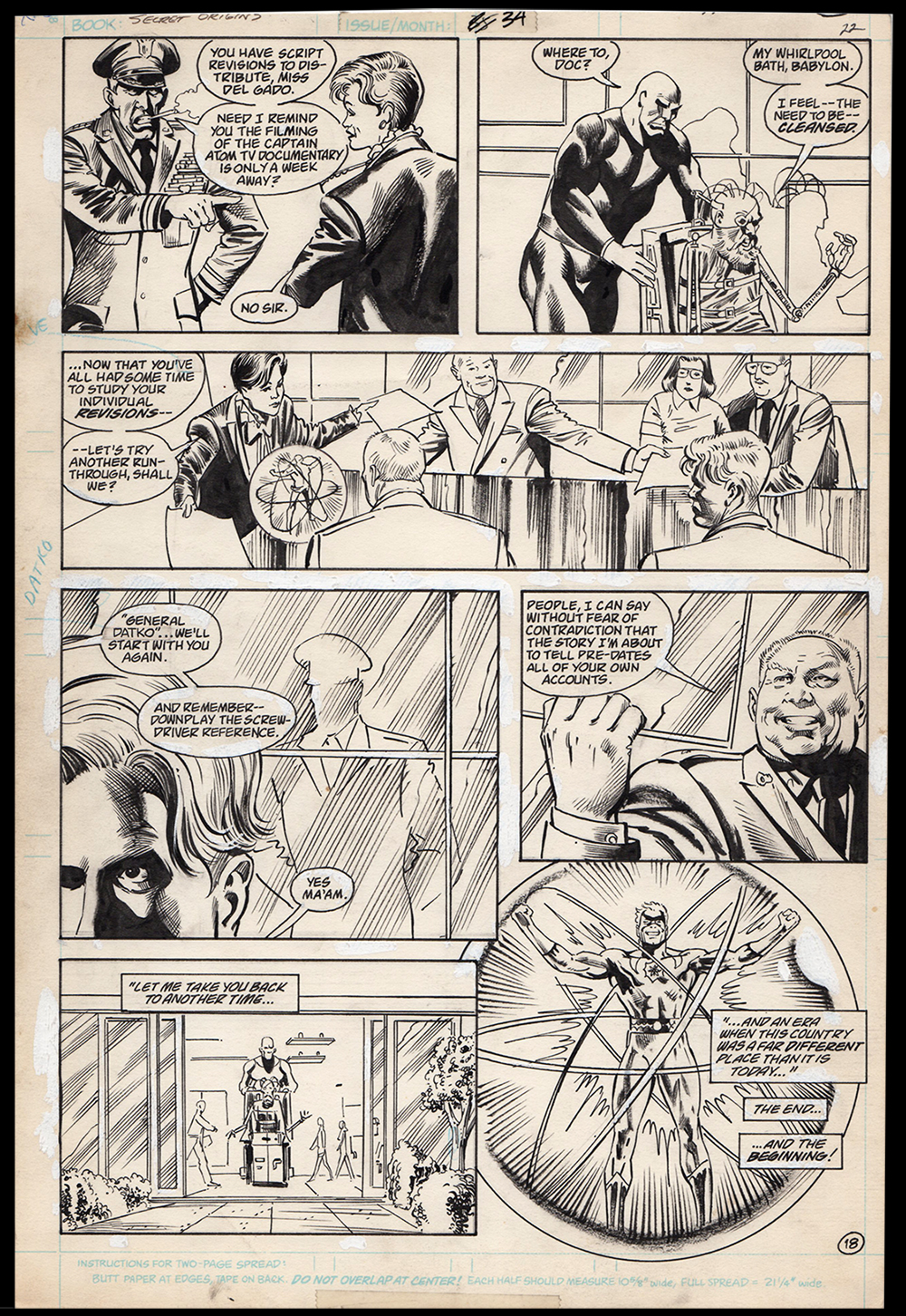 Image: Secret Origins #34 Art by Alan Weiss Origin Captain Atom