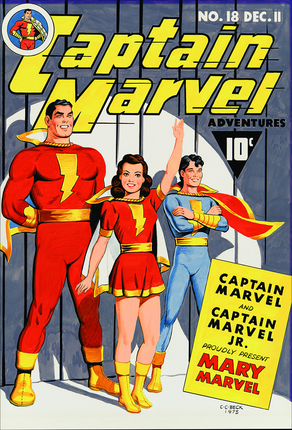 Image: Captain Marvel Adventures #18 Re-creation by C.C. Beck