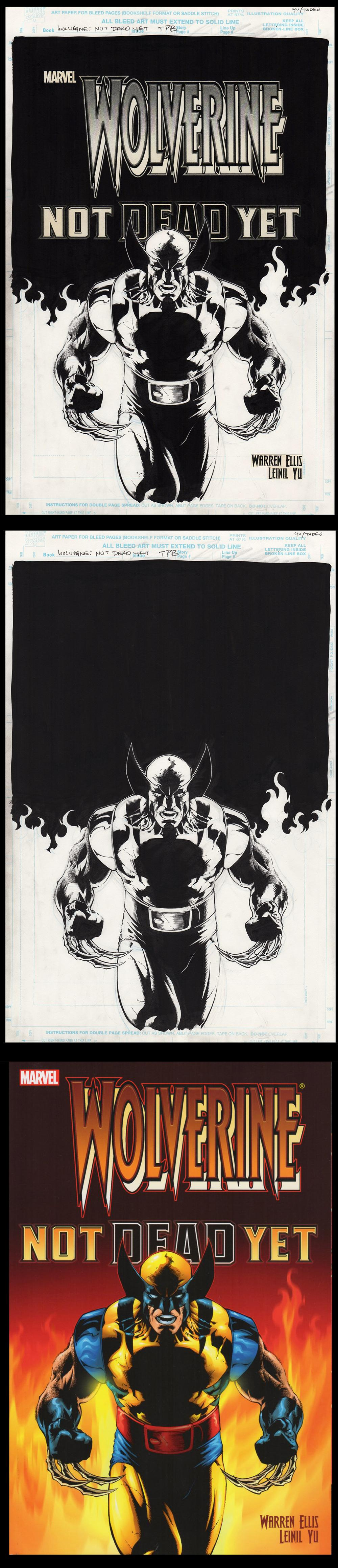 Image: Wolverine Not Dead Yet TPB Cover art by Leinil Yu