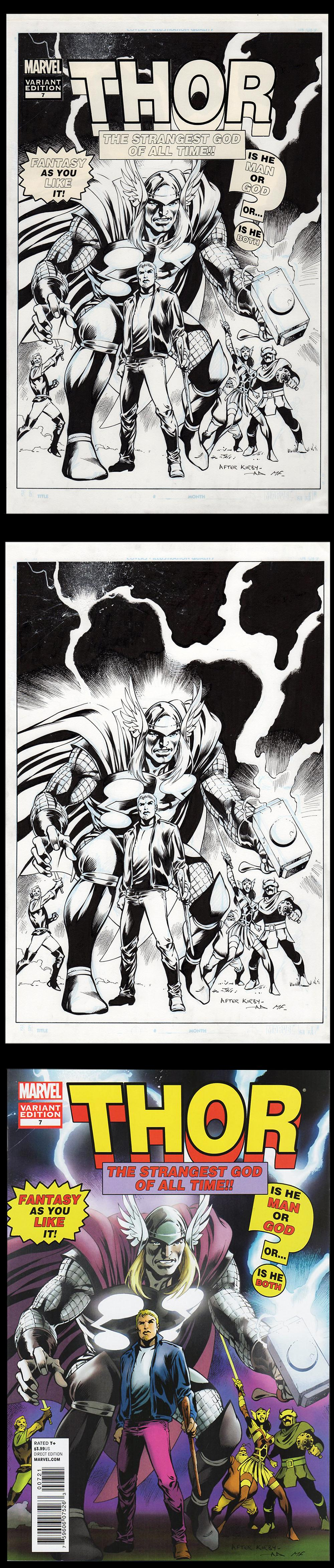 Image: Mighty Thor #7 Cover Art by Alan Davis