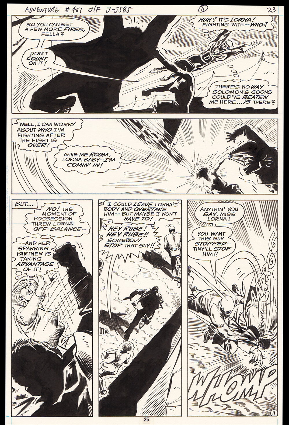 Image: Adventure Comics #461 page 11 art by Jim Aparo