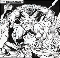 Incredible Hulk Annual #15 Splash Art by Sal Buscema