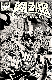 Ka-Zar the Savage #27 Cover Art by Armando Gil