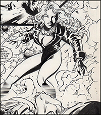 Black Canary Birds of Prey #38 Splash Art by James Fry