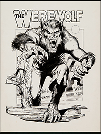 Werewolf 3-D Poster Art by Neal Adams