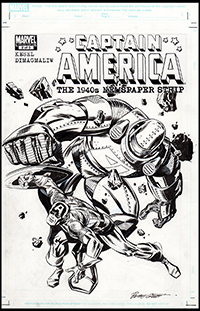 Captain America The 1940's Newspaper Strip #2 Cover Art by Butch Guice