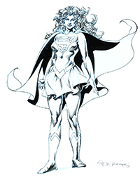 Supergirl Specialty Art by Rudy Nebres
