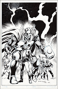 Mighty Thor #7 Cover Art by Alan Davis
