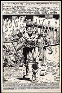 Power Man and Iron Fist #63 Title Splash Art by Kerry Gammill